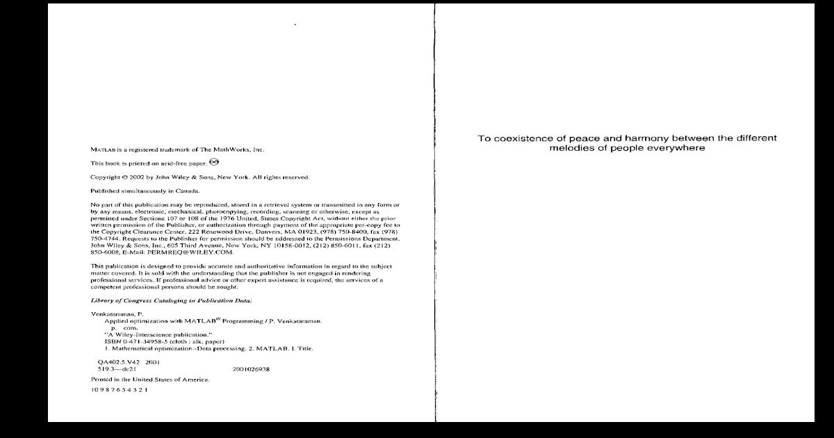 78993537 Applied Optimization With MATLAB Programming by P Venkataraman