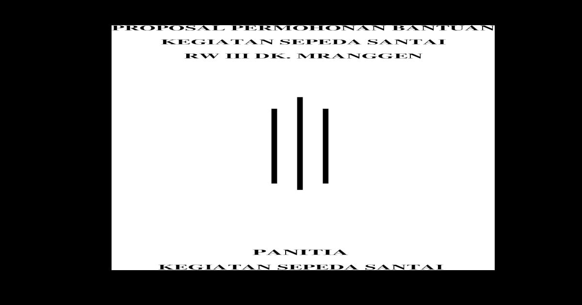 Proposal Sepeda Santai 2015
