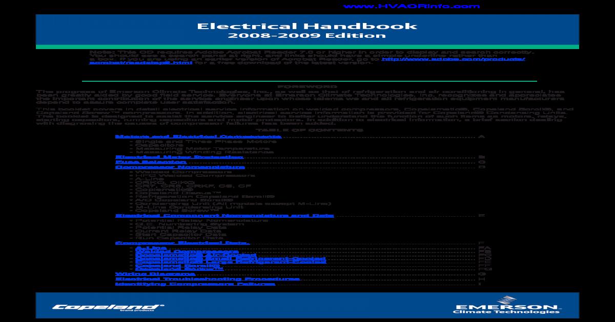 Wiring Diagram Copeland Hermetic Pressors Besides 240v 3 Phase ... on