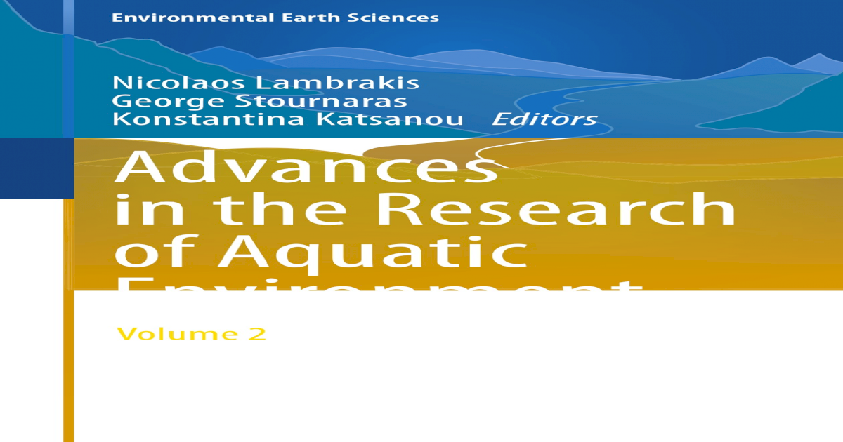 Advances in the Research of Aquatic Environment ||