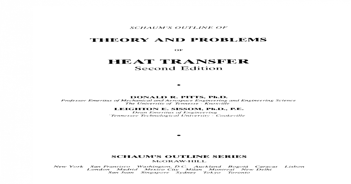 theory and problem ((heat transfer))