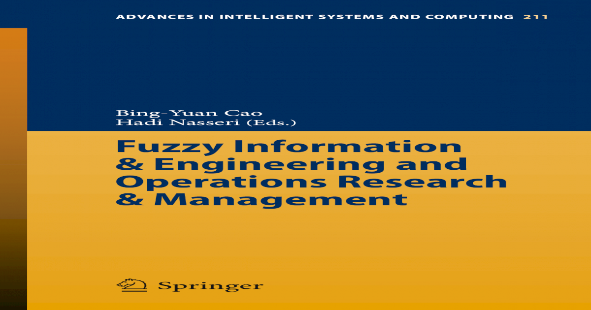 Advances in Intelligent Systems and Computing] Fuzzy