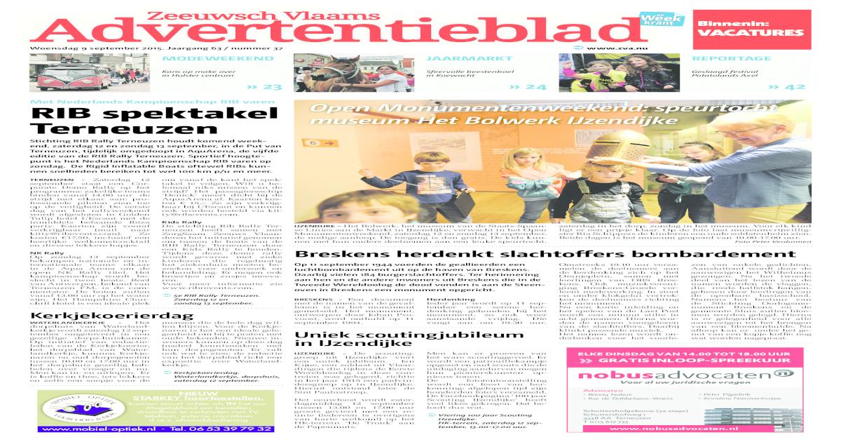 f19a7c4c640 Zeeuws Vlaams Advertentieblad week37