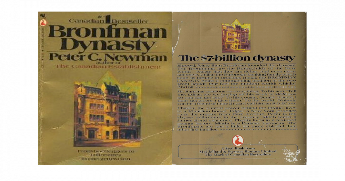 573e0bc28 Newman peter charles bronfman dynasty