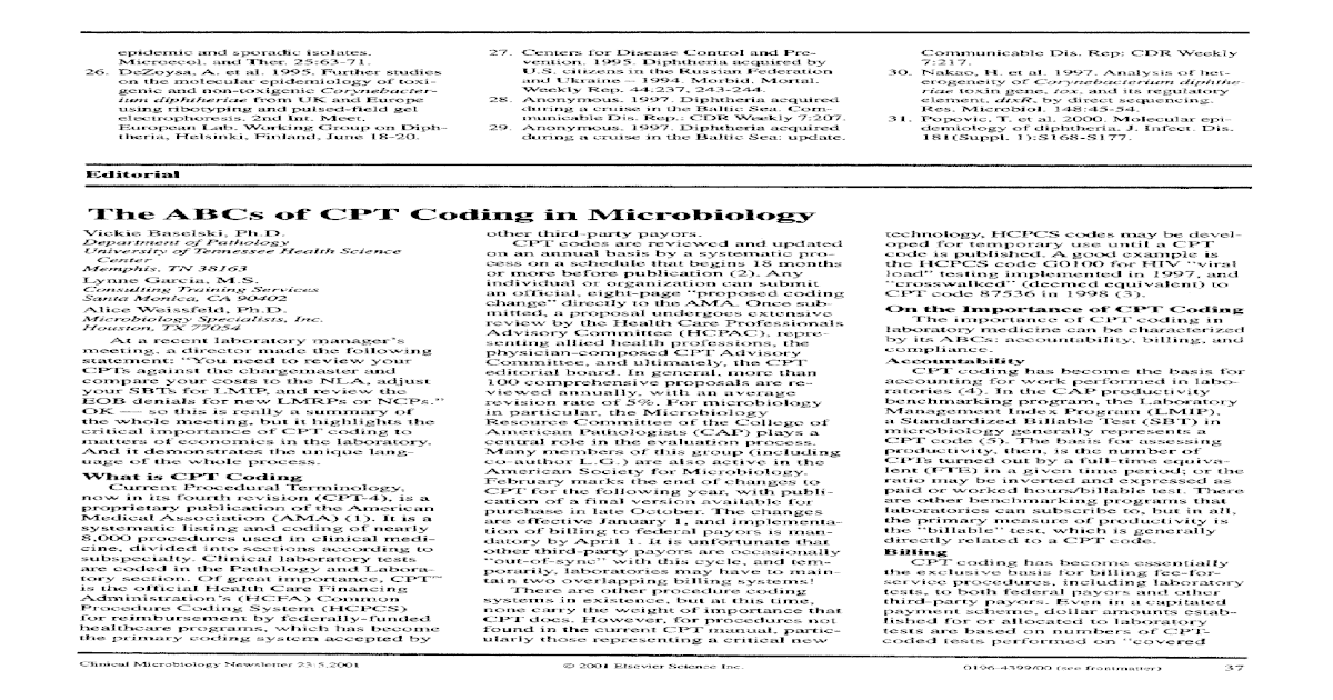 The ABCs of CPT coding in microbiology