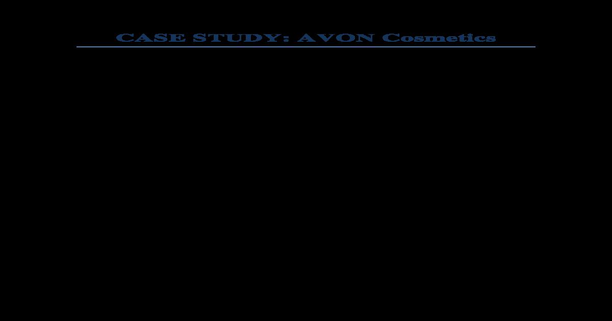 objectives of avon company
