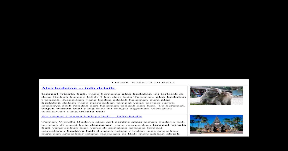 Objek Wisata Di Bali Doc