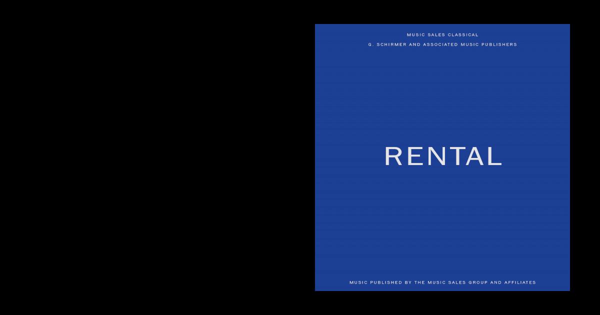 G Schirmer Amp Rental Catalogue