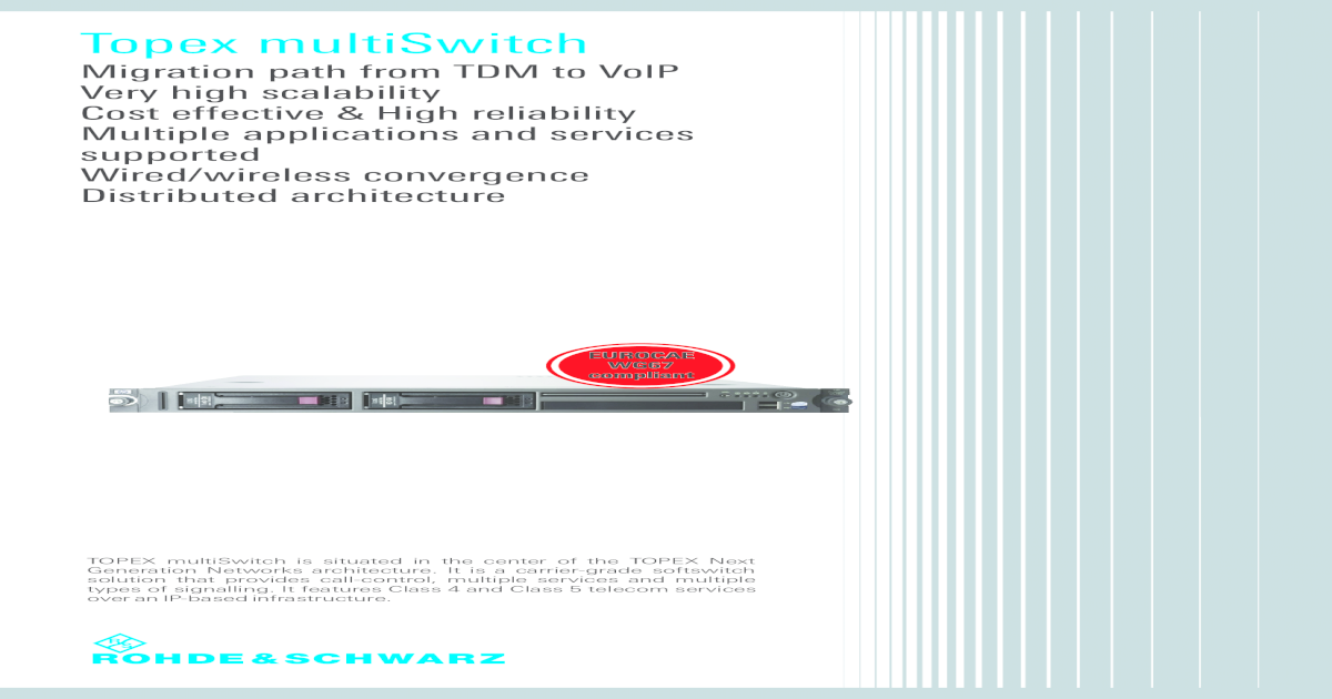 Topex MultiSwitch En, SoftSwitch