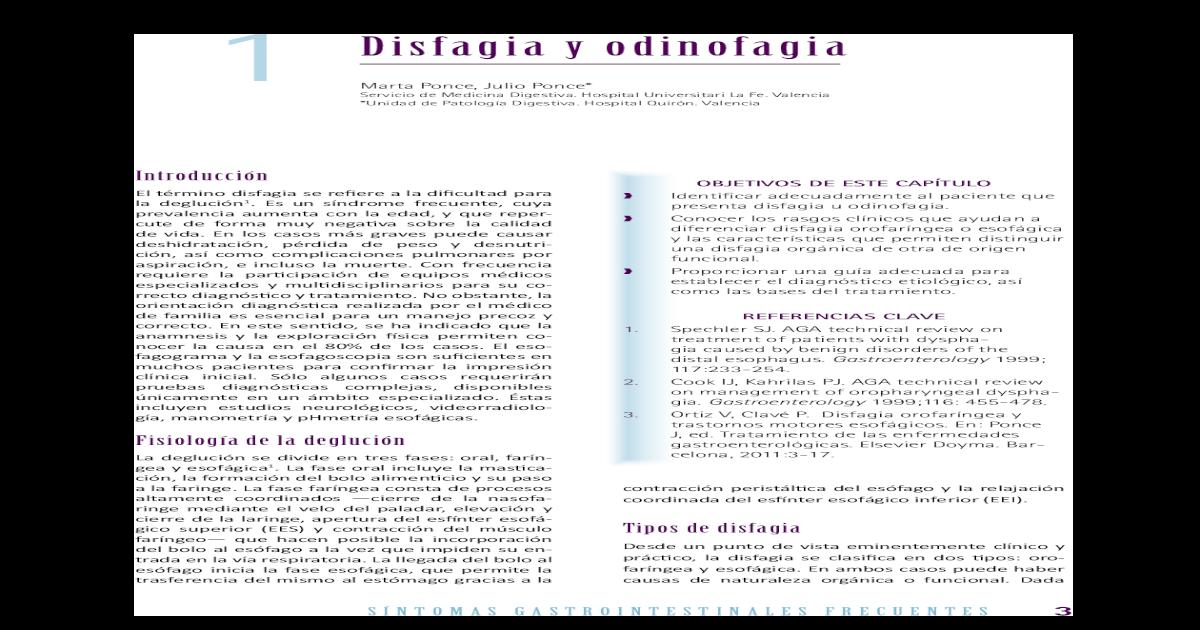 Dieta para disfagia esofagica