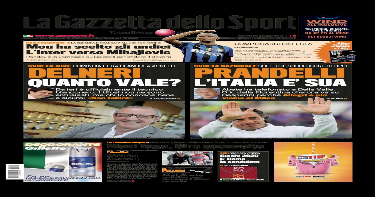 La Gazzetta dello Sport - 20 Maggio 2010 6f13409b9ea6