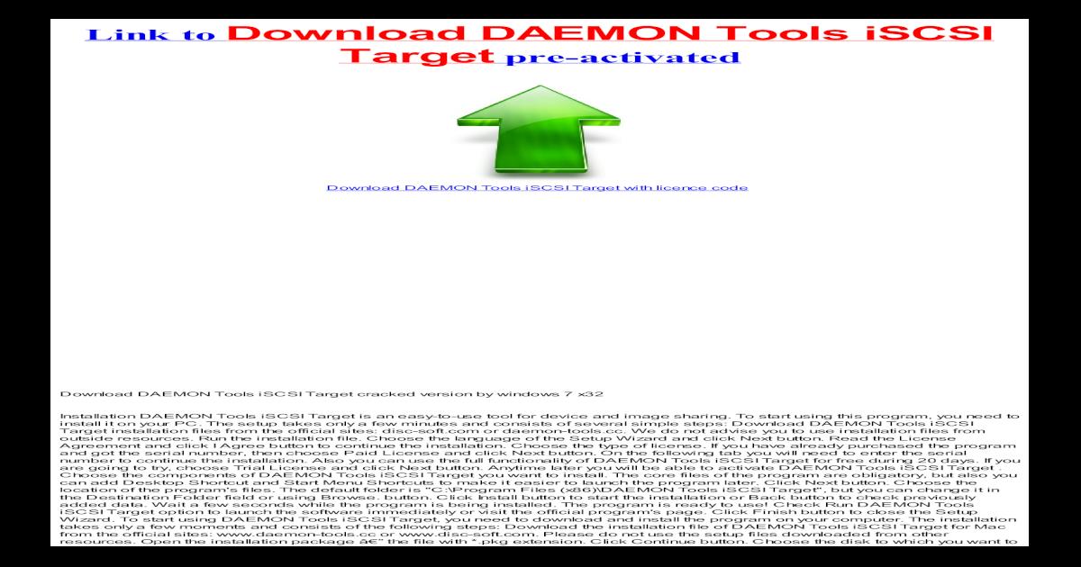daemon tools mac iscsi