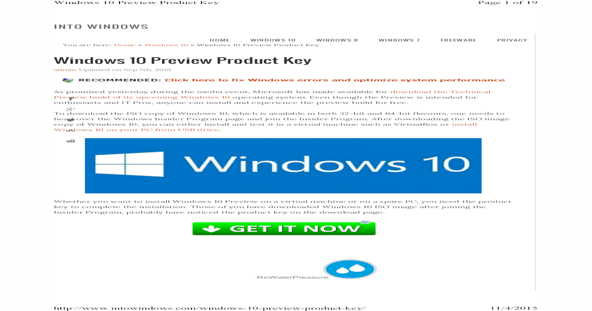 windows 10 activation key build 10074