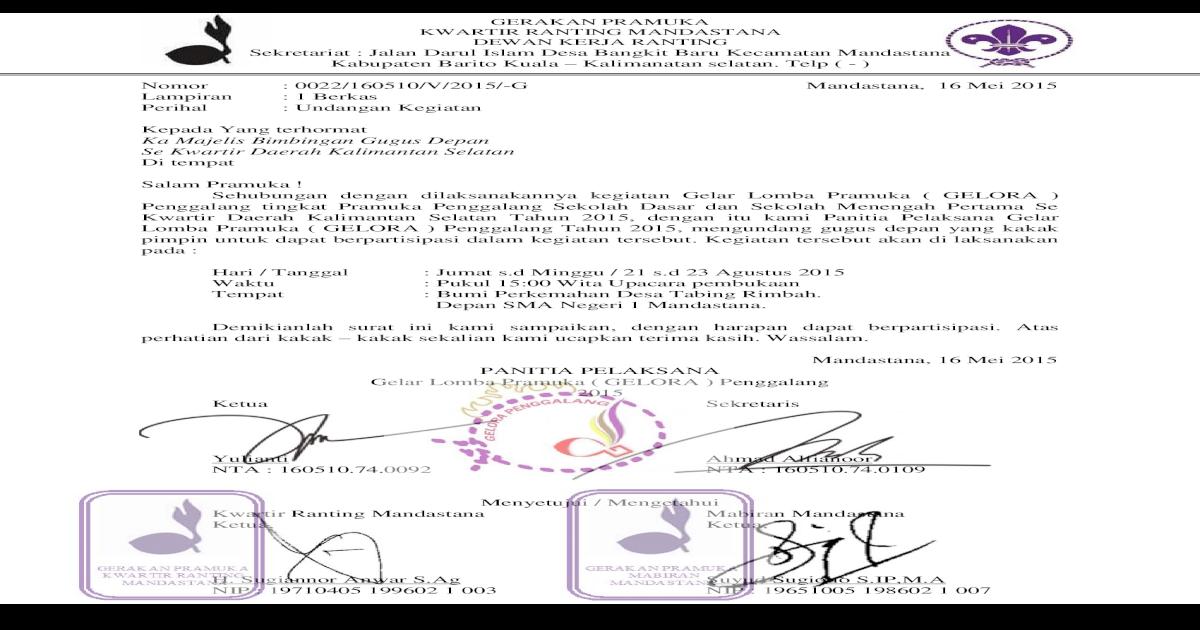Undangan Gelora Penggalang 2015