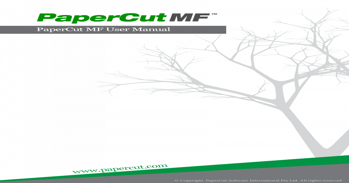 PaperCut Manual