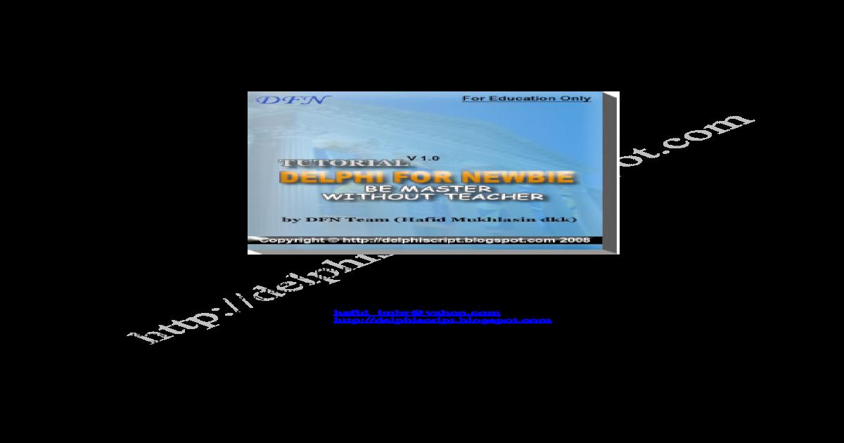 Mastering Delphi 7 Ebook