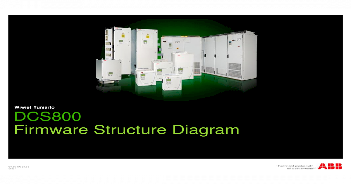 DCS800 Firmware Structure Diagrams on