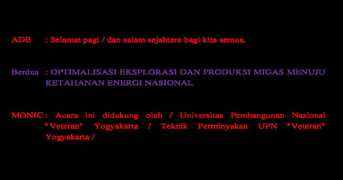 Contoh Naskah Mc Seminar Dalam Bahasa Inggris - Berbagai ...