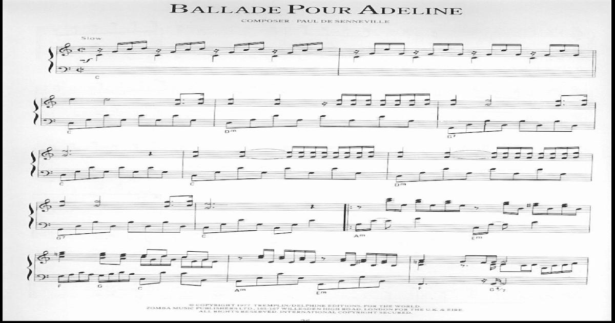Partitura Balada Para Adelina Piano Epub