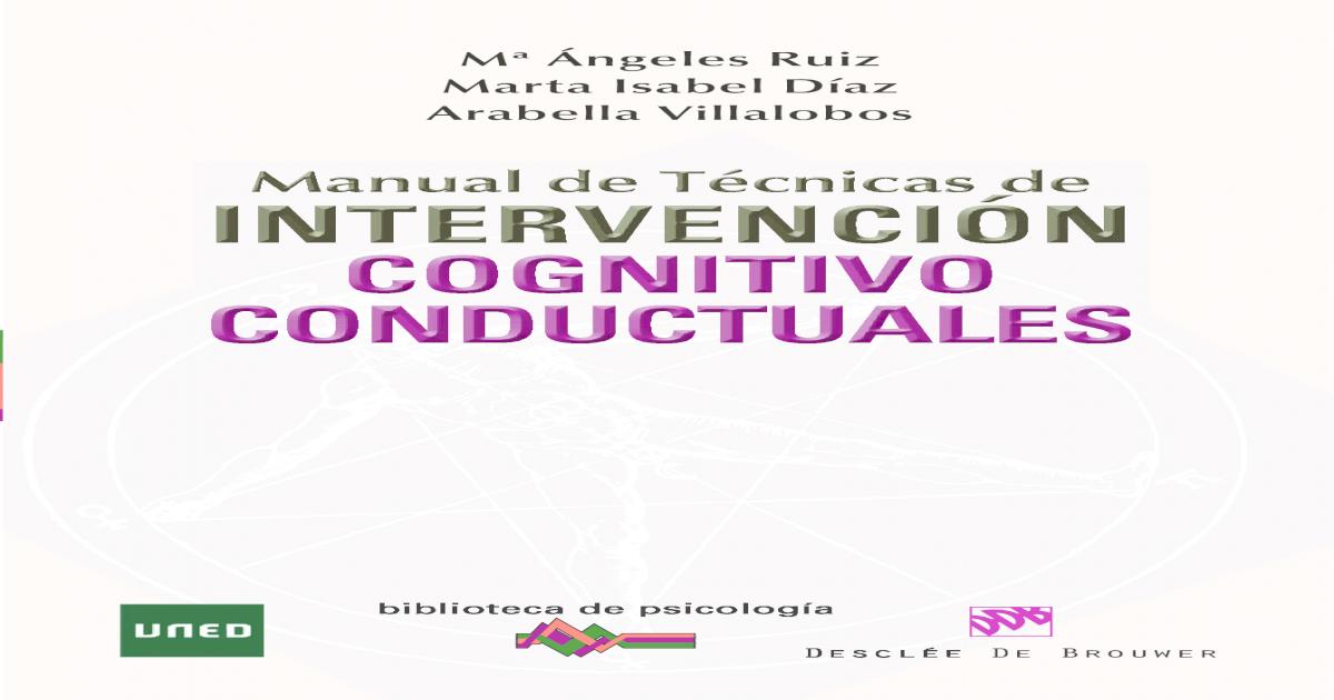 02bc512f94 Manual de Tcnicas de Intervencin Cognitivo-conductuales