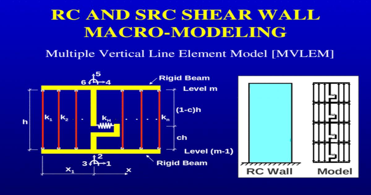 RC AND SRC SHEAR WALL MACRO-MODELING