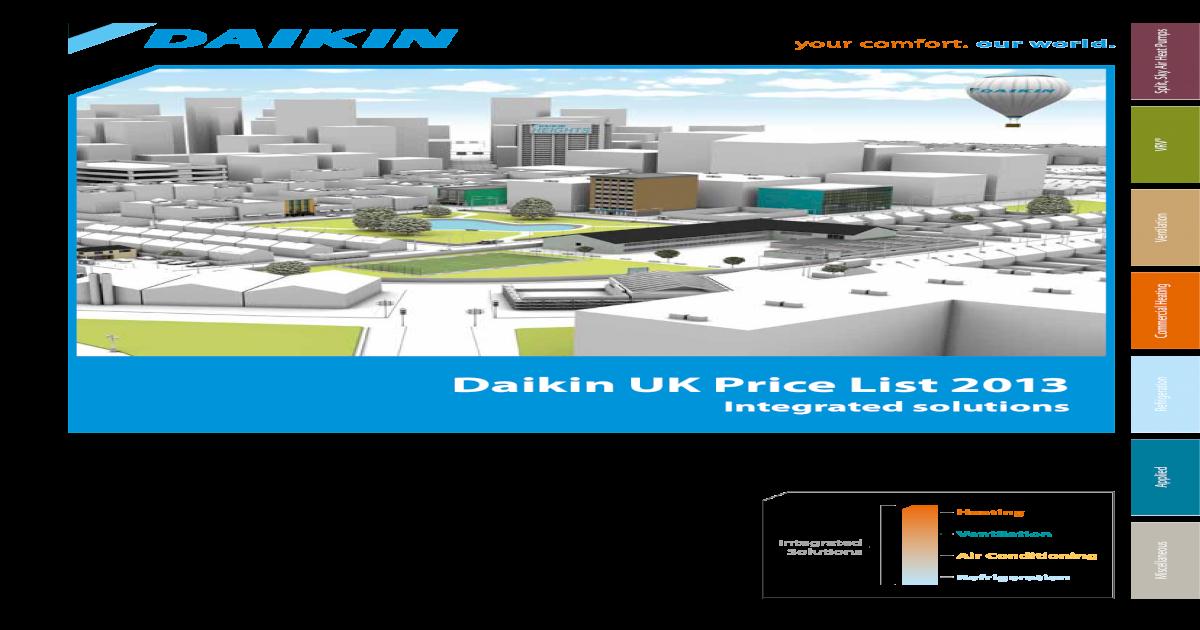 Daikin AC Price List 2013