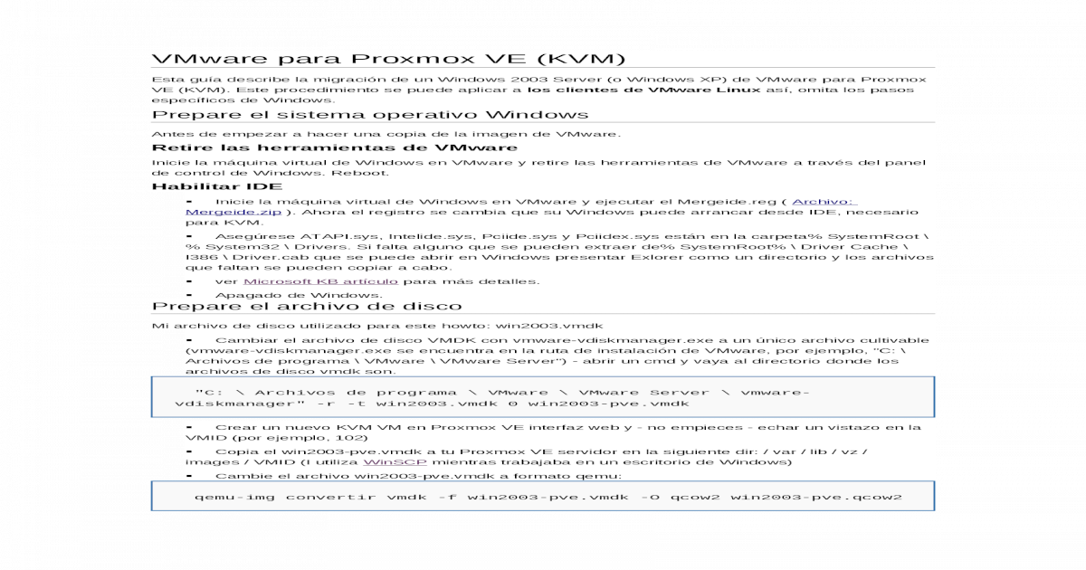 VMware Para Proxmox VE