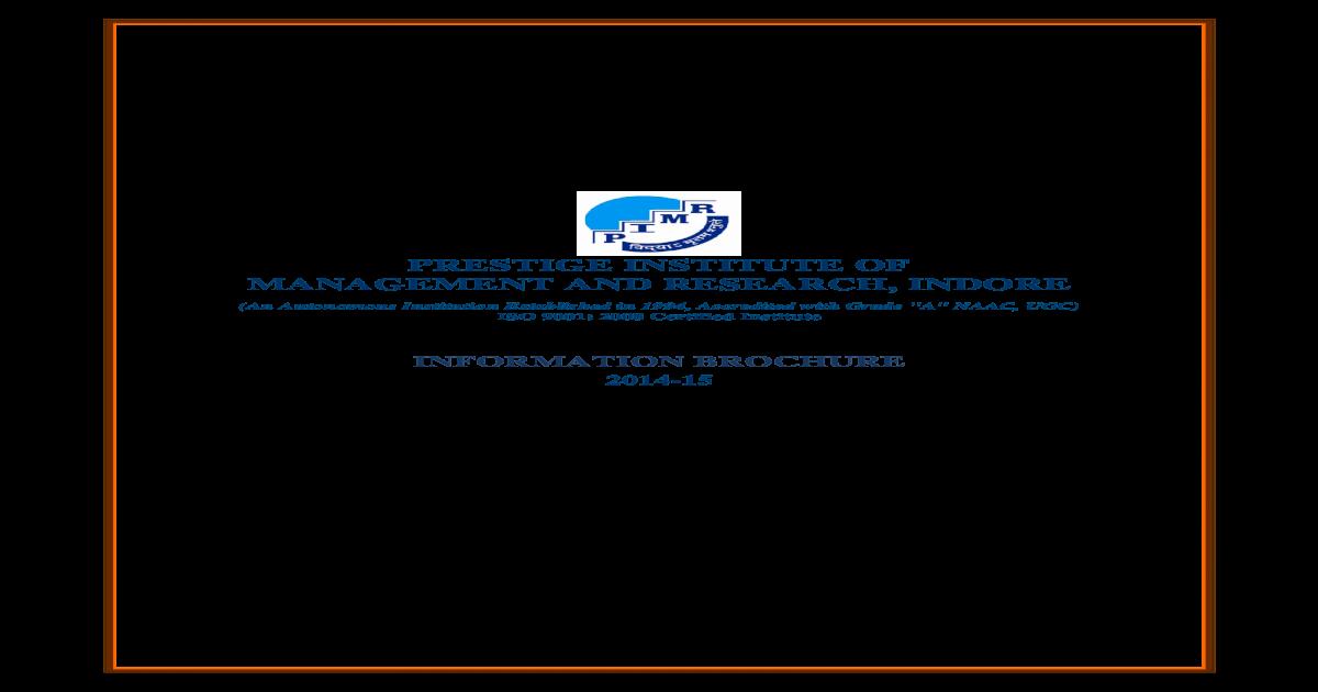 Final Information Brochure