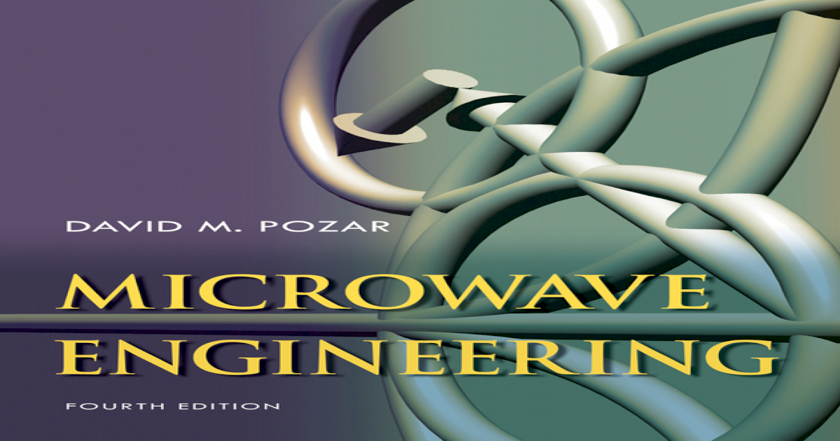 Pozar Microwave Engineering Book