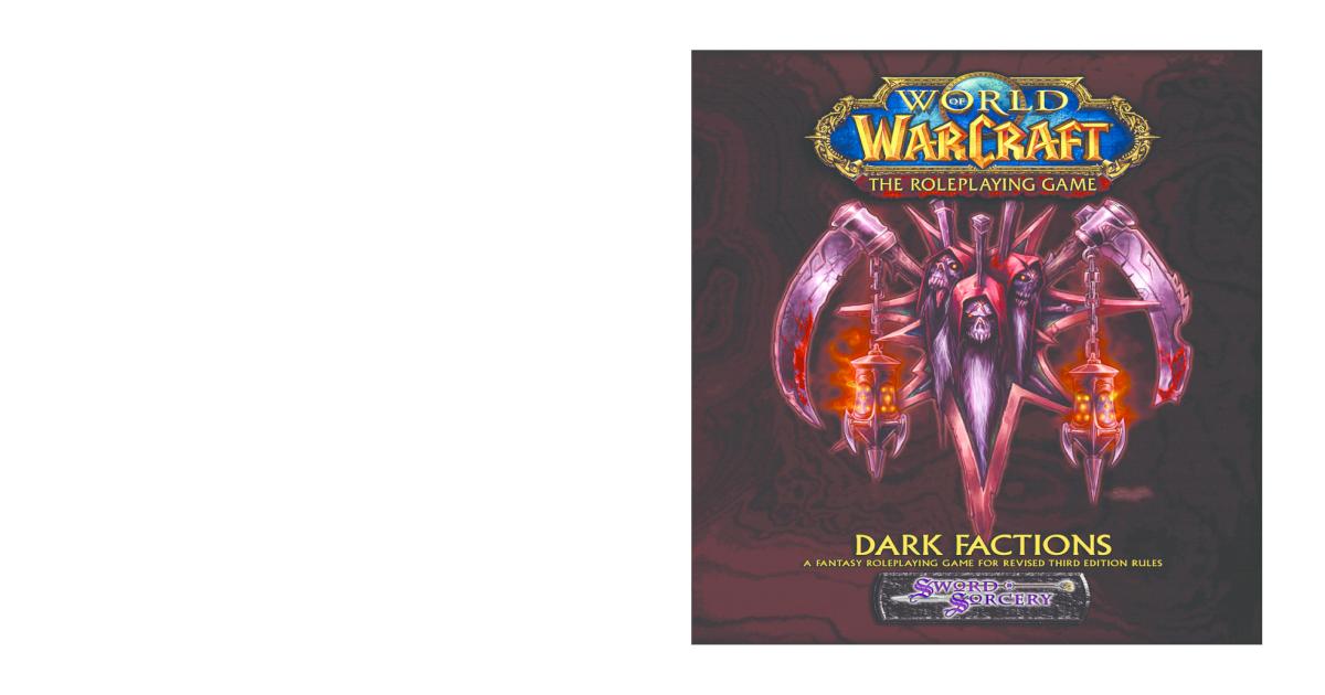 World of Warcraft: Dark Factions pdf