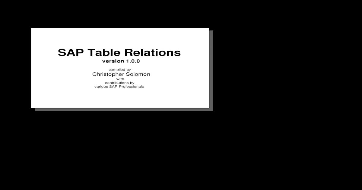 Phenomenal Dd Sap Table Relations Download Free Architecture Designs Grimeyleaguecom