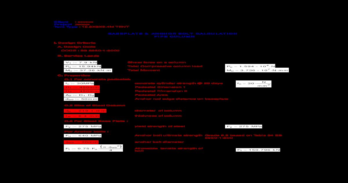 Mathcad - BASEPLATE DESIGN -10 pdf