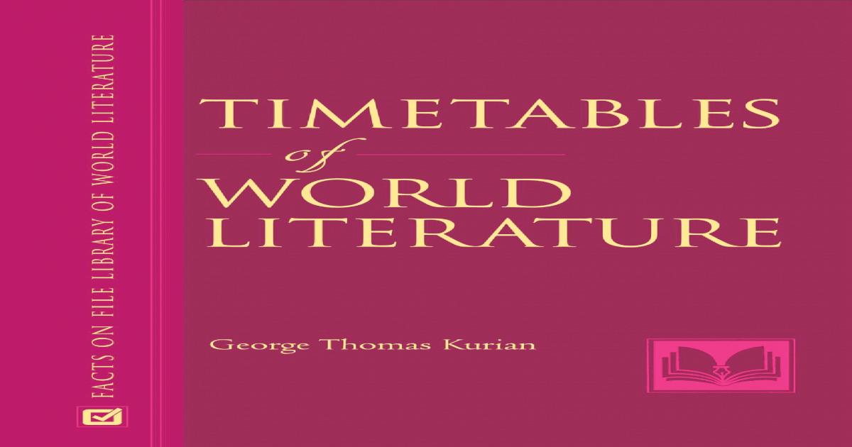 Kurian Timetables Of World Literature