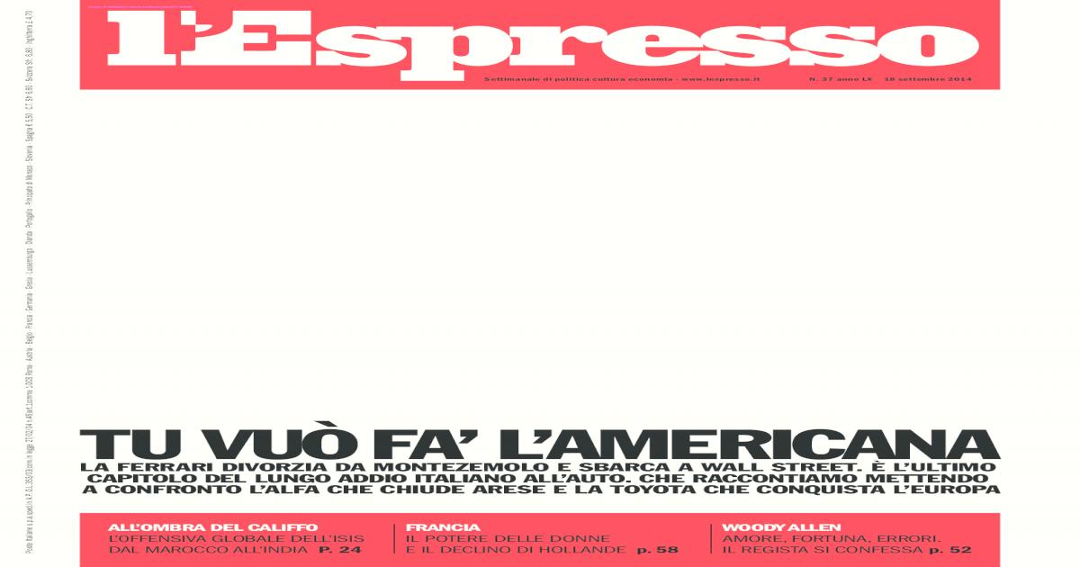 2a542dac3e Espresso No.37 - 18 Settembre 2014