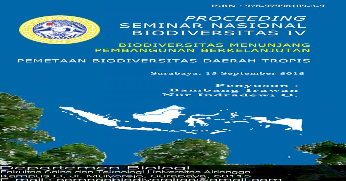 Proceeding Seminar Biodiversitas Iv 15 Sept 2012