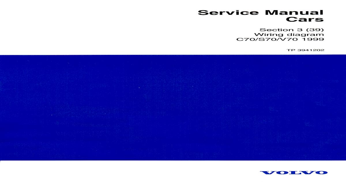 Wiring Diagram Volvo V70 1999