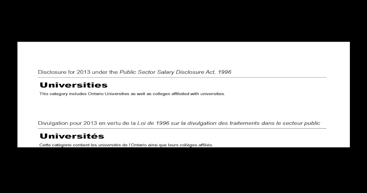 ListUniversities Ontario Sunshine Sunshine ListUniversities 2013 Ontario ListUniversities Ontario Sunshine 2013 N08wmnv