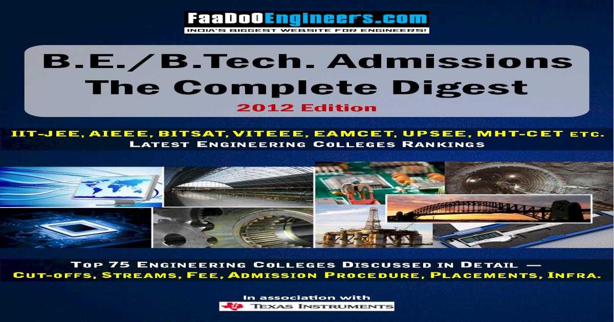 Engineering Admission (2012 Edition)