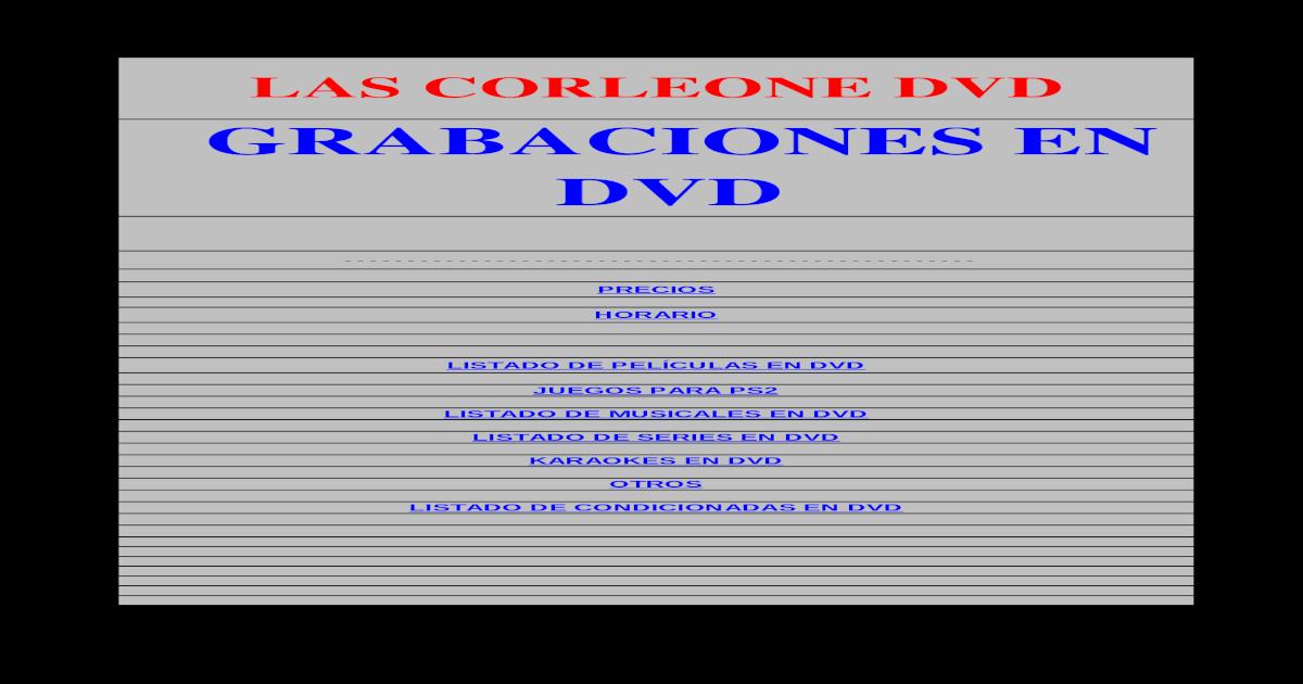 c67246569 Las Corleone Dvd@Hotmail
