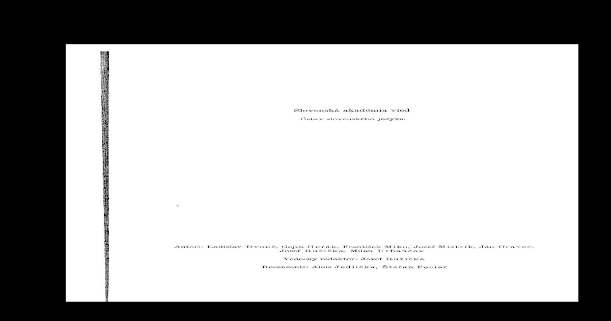 299384a62 morfologia slovenskeho jazyka