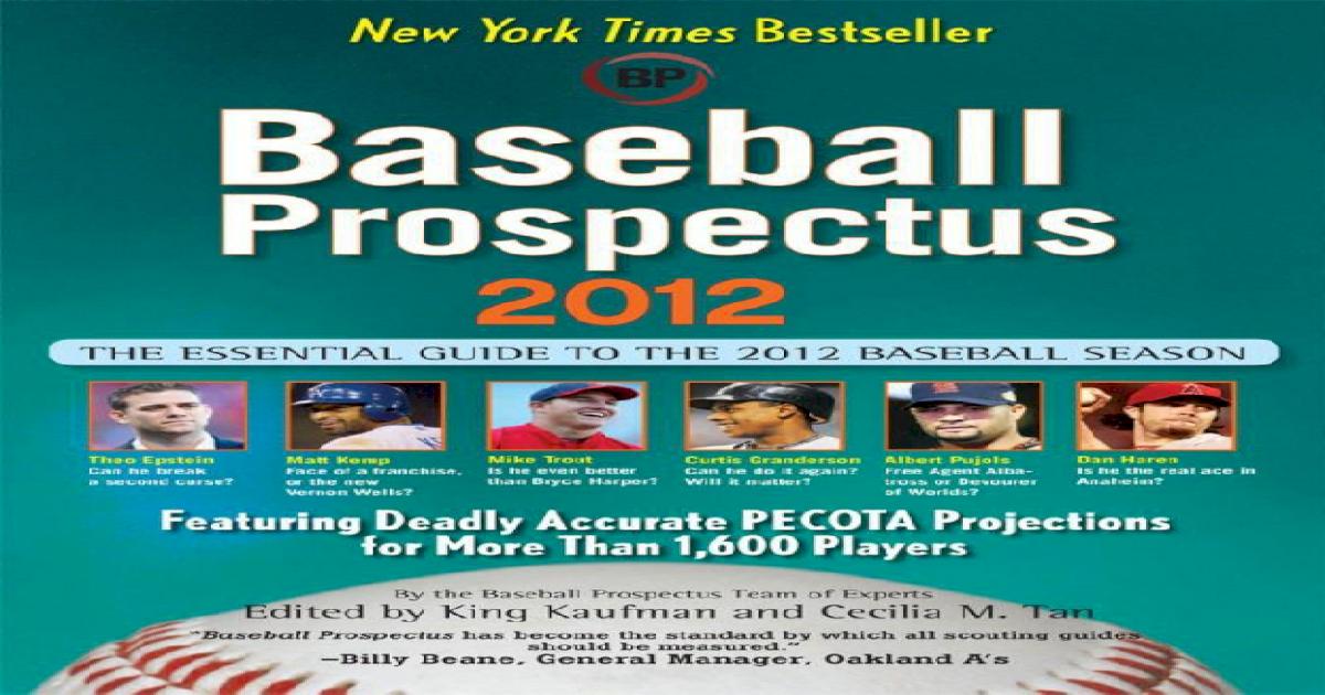 19c8d39d25fc6b Baseball Prospectus 2012 - Prospectus