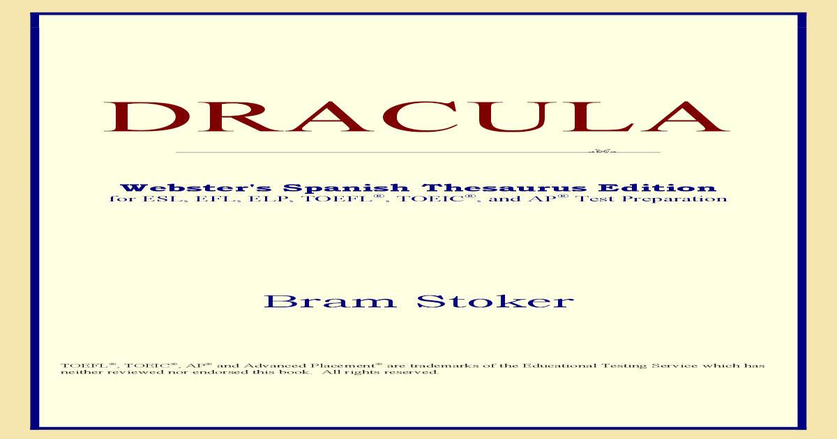Dracula [Bram Stoker]