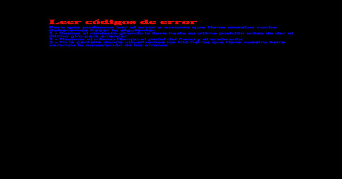 Codigos de error OBD