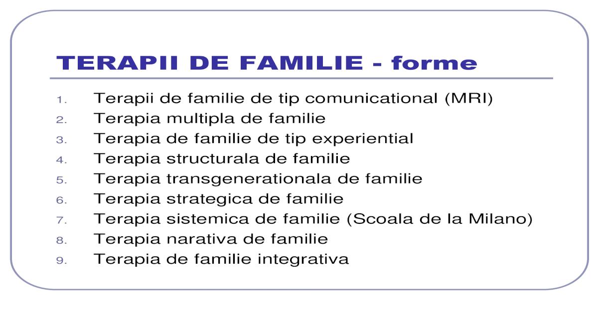Terapia sistemica de familie