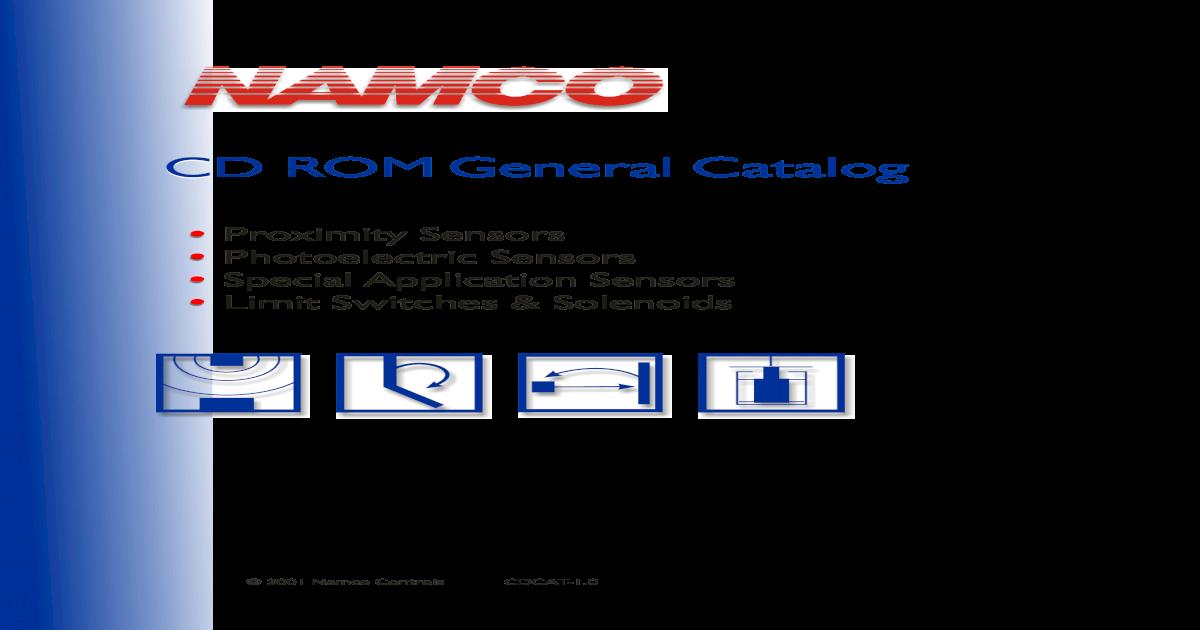 NAMCO - General Catalog on