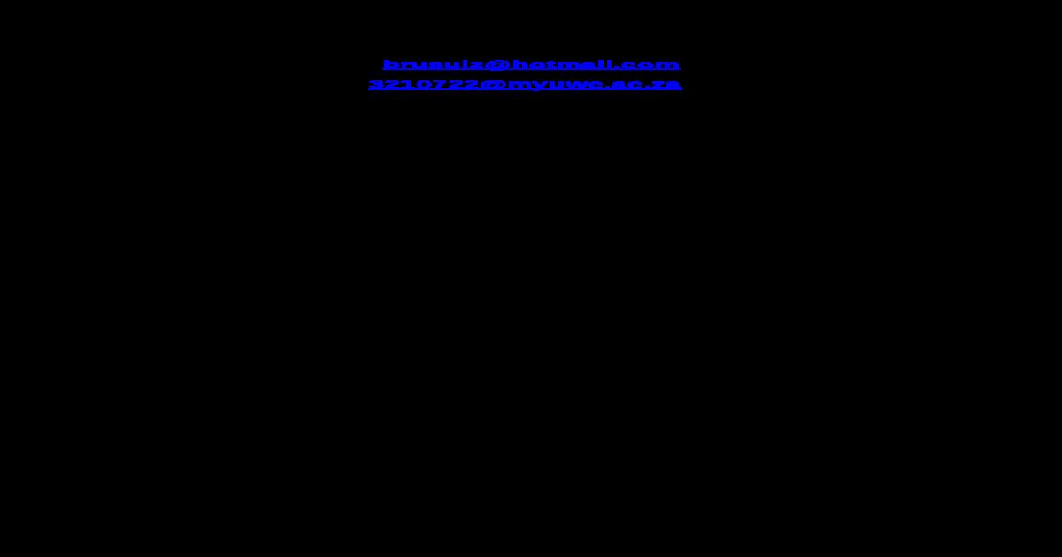 Curriculum Vitae Of Sulaiman Mosavel