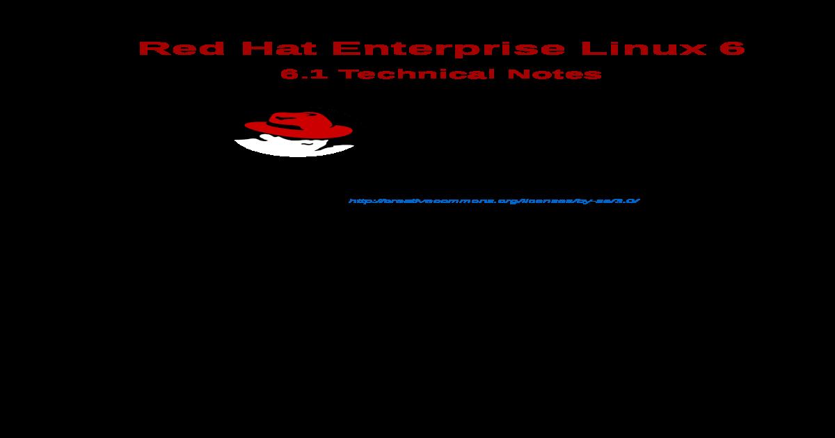 Red Hat Enterprise Linux-6-6 1 Technical Notes-En-US
