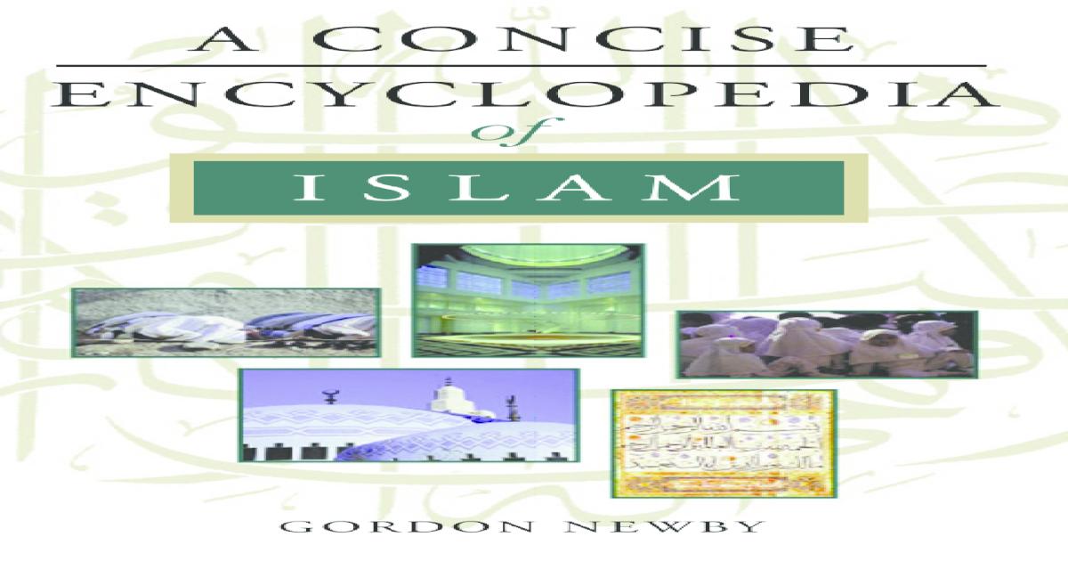 A concise encyclopedia_of_islam_gordon_newby