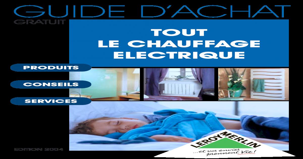 Guide Chauffage Elec