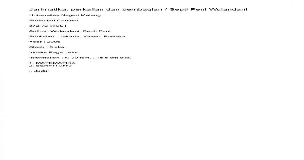 Jarimatika Pdf